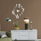 Luxury Sticker DIY Mirror Wall Clock Wall Sticker Home Decoration(silver color
