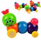 Baby Kids Colorful Inchworm Carpenterworm Twist Forward Movement Clockwork Toy