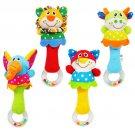 1x Baby Developmental Toy New Lovely Soft Hand bells Animal Model Long Handbell New