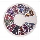1.5mm 1800 Nail Art Rhinestone Glitter Tip Mix Gems