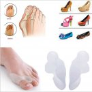 2Pcs Silica Gel Toe Separators Stretchers Straighteners Alignment Bunion Pain Relief