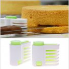2Pcs DIY Kitchen 5 Layers Cake Bread Cutter Leveler Slicer Cutting Fixator Tool