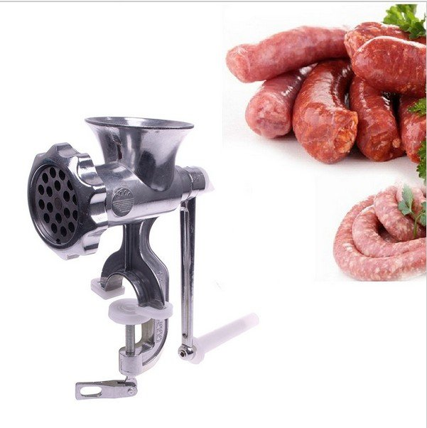 Kitchen Home Cast Iron Manual Meat Grinder Table Hand Mincer