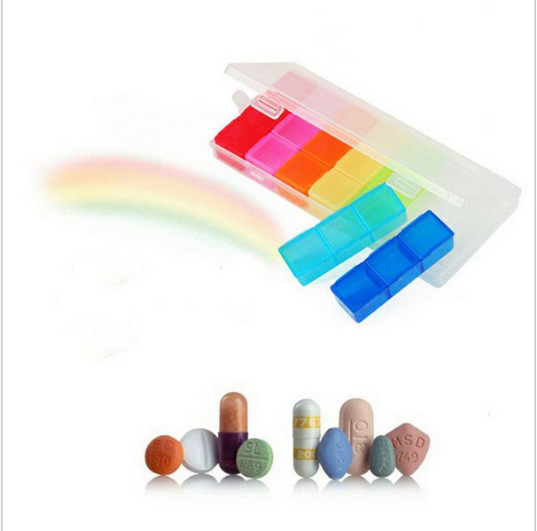 7 Days Colorful Pill Medicine Tablet Drug Box Case Organizer Container