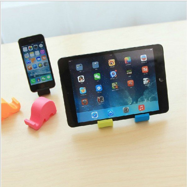 5pcs Cute Mini Elephant Shaped Cellphone Mobile Phone Holder Mount Stand For Iphone For Samsung HTC