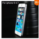 "Ultra thin Slim Aluminium Metal Bumper Frame Case For Apple Iphone 6 4.7""  COLOR GRAY"