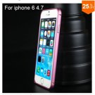 "Ultra thin Slim Aluminium Metal Bumper Frame Case For Apple Iphone 6 4.7""  COLOR ROSE RED"