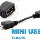Mini USB to Micro USB Adapter Charger Converter for Mobile Phone