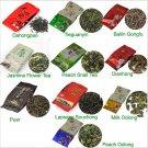 10 Kinds Flavours Tea, including Puerh,Black,Green,White tea, Oolong, Puer, Dahongpao, Tieguanyin