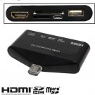 MHL to HDMI HDTV HD TV Adapter USB OTG Card Reader Camera Connection kit for Samsung Galaxy
