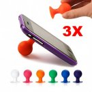 Cell Phone Stand Holder Rubber For iPhone 4G MP3 X 3 PCS