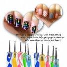 5PCS Nail Art Tool Dotting Painting Marbleizing Pen Double End