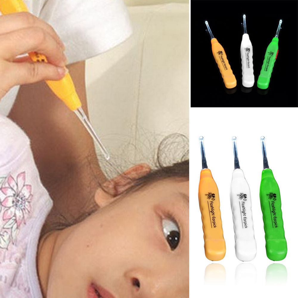 New LED Flashlight EarPick Ear Pick Wax Remover Curette Cleaner Care Tool