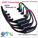 Sports Wireless Bluetooth Handfree Stereo Headset Headphone for iPhone Samsung(color red