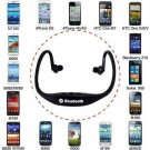 Sports Wireless Bluetooth Handfree Stereo Headset Headphone for iPhone Samsung(color black