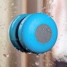 Waterproof Wireless Bluetooth Handsfree Mic Suction Mini Speaker Shower Car Blue