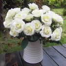 1 Bouquet French Rose Artificial Silk Flower Party Home Wedding Floral Decor New( white