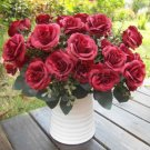 1 Bouquet French Rose Artificial Silk Flower Party Home Wedding Floral Decor New( champagne