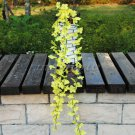 Silk Artificial Flower Vine Leaf Garland Plant Foliage Rattan Home Wedding Decor (color  yellow