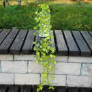 Silk Artificial Flower Vine Leaf Garland Plant Foliage Rattan Home Wedding Decor (color  green