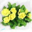 1x Artificial Fake Silk Rose Flower Ivy Vine Hanging Garland Wedding Decor ( yellow