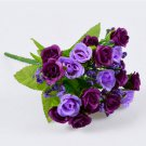 21 head  Artificial Flower Fake Silk Flower Arrangement (color PURPLE