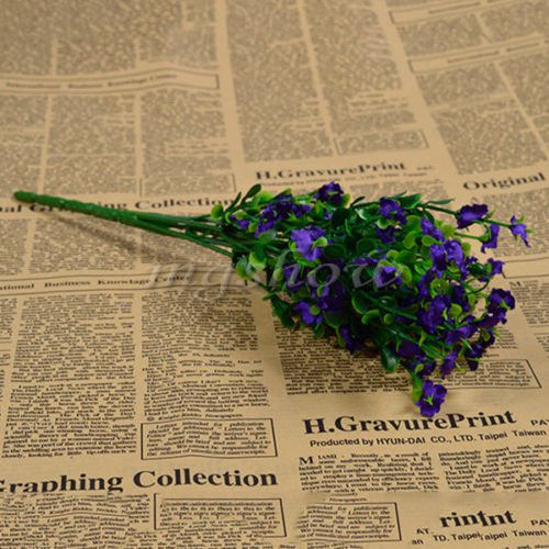 1 Bouquet Silk Artificial baby's breath Gypsophila Flower Wedding Home Decor (COLOR DARK PURPLE