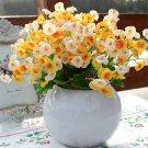 3 X Bouquet Artificial Campanula Silk Flowers Leaf Home Wedding Bridal Party Decor(COLOR YELLOW