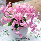 3 X Bouquet Artificial Campanula Silk Flowers Leaf Home Wedding Bridal Party Decor(COLOR PINK