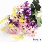 3 X Bouquet Artificial Cineraria Silk Flowers Leaf Home Party Wedding Garden Decor (COLOR PURPLE