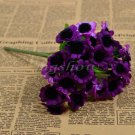 1 Bunch 30 Heads Artificial Sunflowers Silk Daisy Bouquet Flowers Home Decor (purple