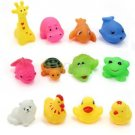 12 pcs/Lot Mixed Different Animal Bath Toys
