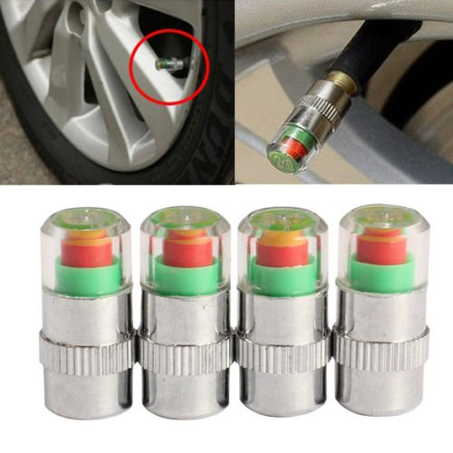 4Pcs Car Auto Tire Air Pressure Valve Stem Caps Sensor Indicator Alert Bike      SKU:54697.01