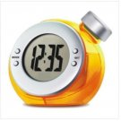 Eco-friendly Water Power Digital LCD Display Table Clock (yellow