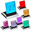 7 LED Change Color Digital LCD Alarm Clock with Thermometer Calendar Snooze
