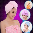 1X quick-drying microfiber hair towel wrapped turban