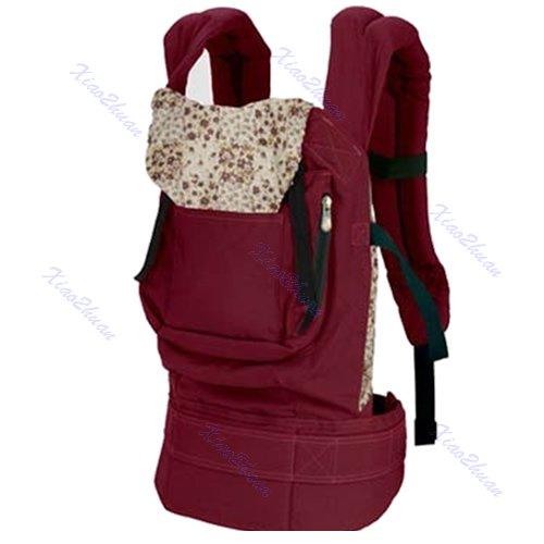 Baby Newborn New Front & Back Carrier Infant Comfort Backpack Sling Wrap Cotton( RED COLOR