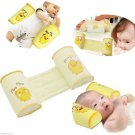 Baby Infant Newborn Sleep Positioner Prevent Flat Head Shape Anti Roll Pillow