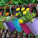 1x Metal Iron Flower Pot Hanging Balcony Garden Plant Planter Home Decor