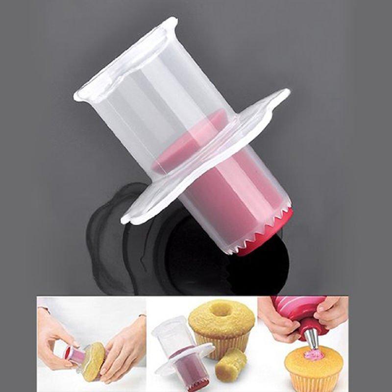 Cupcake Plunger Cutter Pastry Corer Decorating Divider Cake Filler Kitchen