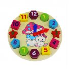 New Promotion Wooden 12 Number Colorful Puzzle Toy Baby Educational Bricks Toy