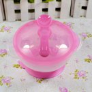 Baby Kids Children Suction Cup Bowl Slip-resistant Tableware Set Sucker Bowl(color pink