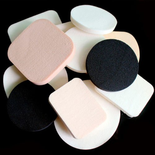 12PCS Beauty Facial Face Soft Sponge Makeup Foundation Cosmetic Powder Puff