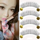 10Pairs Natural Handmade Cross Black Long Makeup Eye lash False Eyelashes Hot