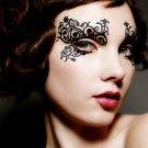 Royal Luxury Paper Cutting Flower Eye Stickers Eyeliner False Eyelashes 1Pair