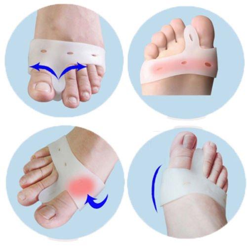 1Pair Foot Care Bunion Relief Silicone Toe hallux Valgus Separators Straightener