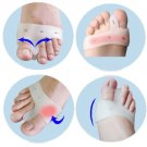 1Pair Foot Care Bunion Relief Silicone Toe hallux Valgus Separators Straightener