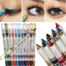 12 Color/Set Glitter Lip Liner Eye Shadow Eyeliner Pencil Pen Makeup Cosmetic