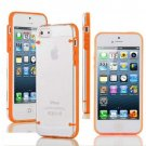 Ultra Thin Transparent Gel Skin Hybrid Case Cover Luminous Glow For iPhone 5s (COLOR ORANGE