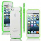 Ultra Thin Transparent Gel Skin Hybrid Case Cover Luminous Glow For iPhone 5s (COLOR GREEN